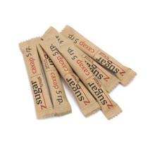 Сахар с логотипом в крафт упаковке 5гр экологичной