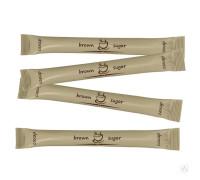 Тростниковый порционный сахар в стиках с логотипом 5 гр нерафинированный