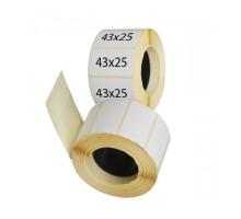 Термоэтикетки ТОП 43х25 мм