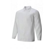 Куртка для пищевых производств мужская белая из полиэстра и хлопка