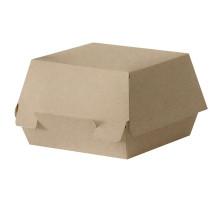 Коробка для гамбургера крафт с крышкой