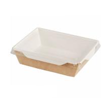 Коробка универсальная с пластиковой крышкой бумага крафт