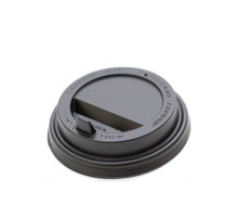 Крышка одноразовая для стакана с закрытым питейником черная (100 шт.)