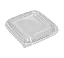 Крышка одноразовая к контейнеру пластик 126х126х13 мм прозрачная (50 шт.)