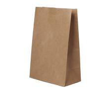 Пакет бумажный прямоугольное дно крафт