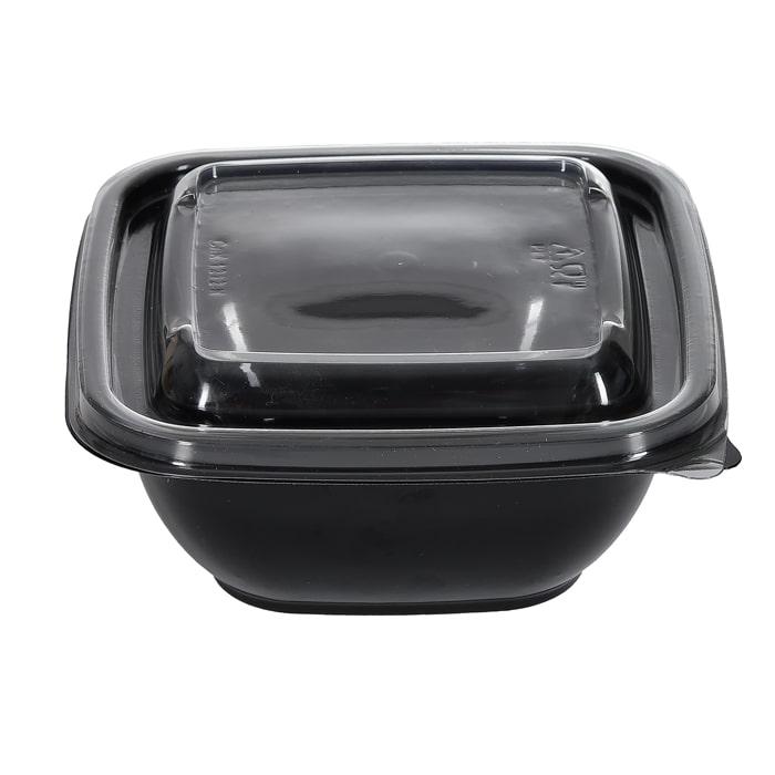 Крышка одноразовая к контейнеру пластик 126х126х13 мм прозрачная
