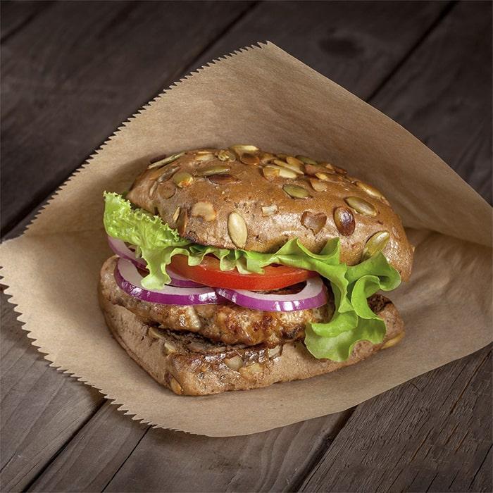 Уголок для гамбургера из небеленого подпергамента